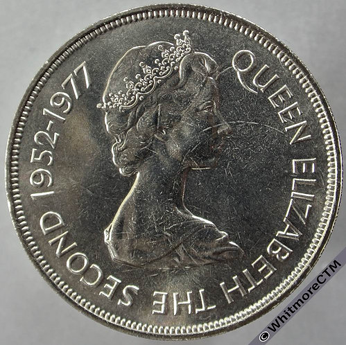 1977 St. Helena Silver Jubilee Crown - 25 Pence - obv
