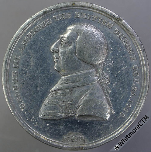 1820 Death of George III Medal 40mm B1002 By T.Wyon. W.M.