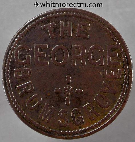 Inn / Pub Token Bromsgrove. The George W1360 1½(d)
