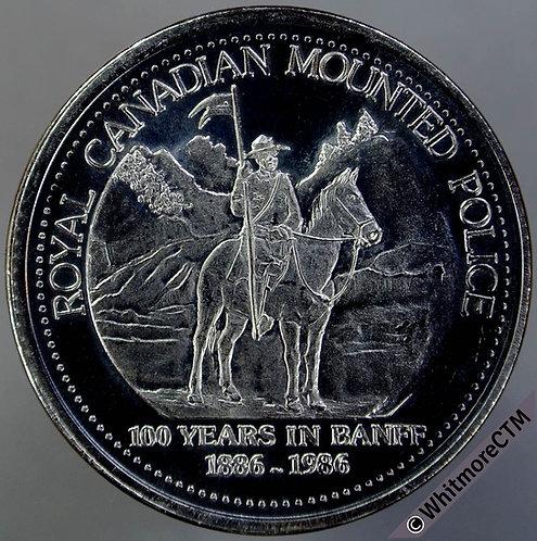Canada Banff Token 1986 Royal Canadian Mounted Police Dollar - Nickel