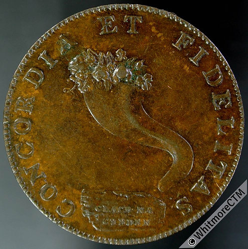 18th Century Halfpenny Token Inverness 3 1795 Rose & Thistles - Cornucopia.