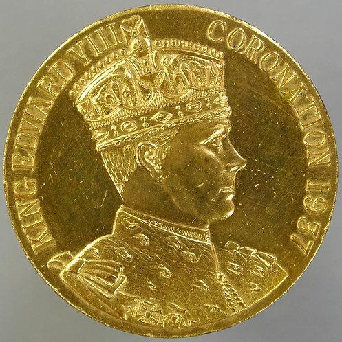 1937 Intended Coronation of Edward VIII Medal 35mm M187b Gilt bronze