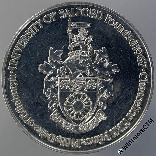 Salford 1967 Foundation of University Medal 33mm Chronology of development. C-N