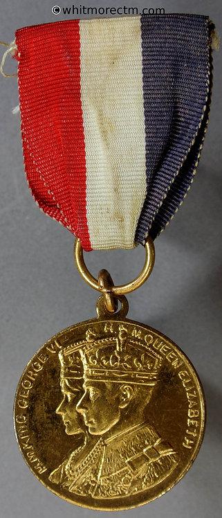 1937 Melton (Division) (Leics) Coronation Medal obv 26mm WE7060J Gilt brass