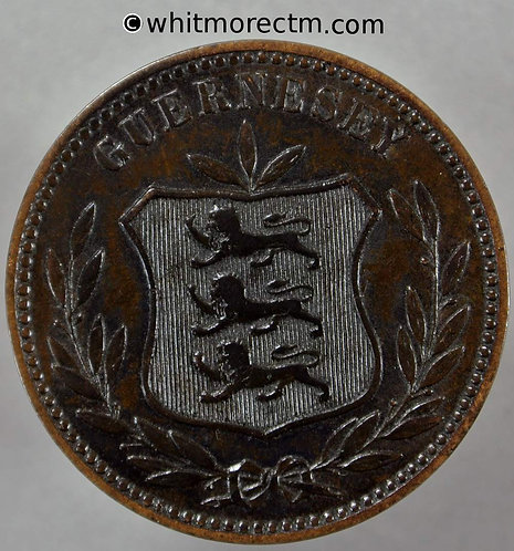 1893 Guernsey 8 Doubles 1893H Large Letters E53