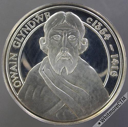1974 Wales Owain Glyndwr Medal 38mm Silvered bronze
