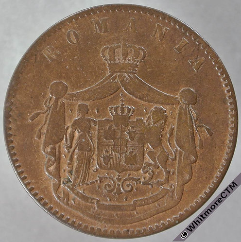 1867 Roumania Romania 10 Bani Watt & Co - Y4 - obv