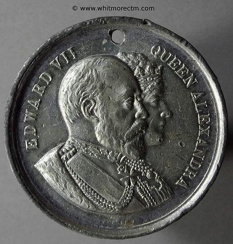1902 Coronation Medal obv Edward VII & Alexandria 38mm B3757Var
