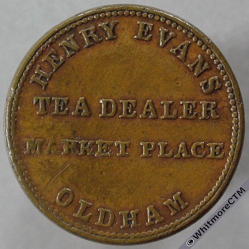 Unofficial Farthing Oldham 4210 Henry Evans Tea Dealer - Tea canister