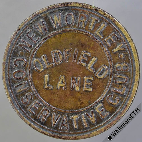 New Wortley (Leeds) Pub / Inn Token Conservative Club Oldfield Lane / ½D