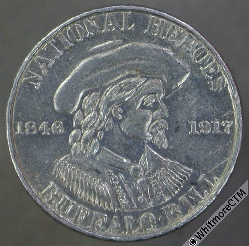 Toy Coin USA 16mm Mazuma play money 10 Buffalo Bill - Aluminium