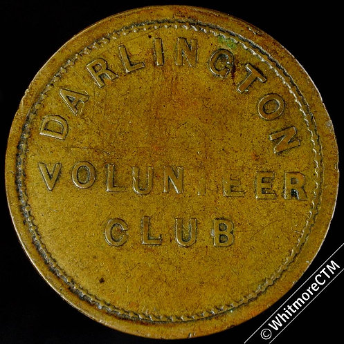 "Armed Forces Token Darlington Volunteer Club / 1½D - 27mm ""Barber's"" style brass"