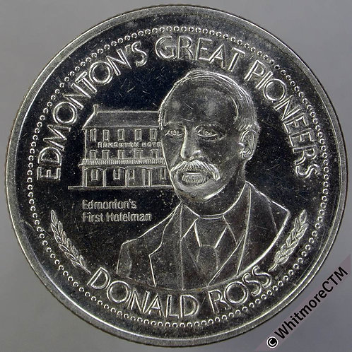 Canada Alberta Edmonton Token 1981 Dollar 33mm Donald Ross. Nickel