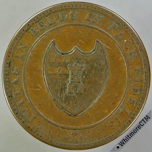 19th Century Penny Worcester 1248 1811 Arms of City / Value in wreath.