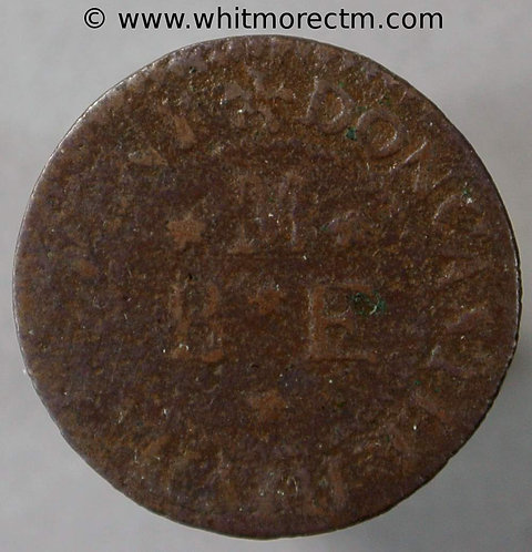 17th Century Token Doncaster 77 Benjamin Marshall.   Angel