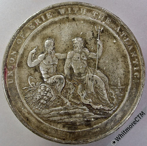 1825 Large USA Erie Canal Completion Medal 81mm by Thomason in Pewter