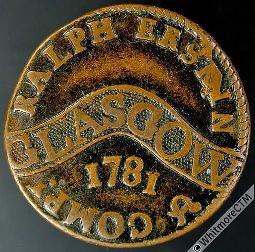 18th Century Farthing Glasgow 26 1781 Ralph Erskin & Co. The rarer variety.