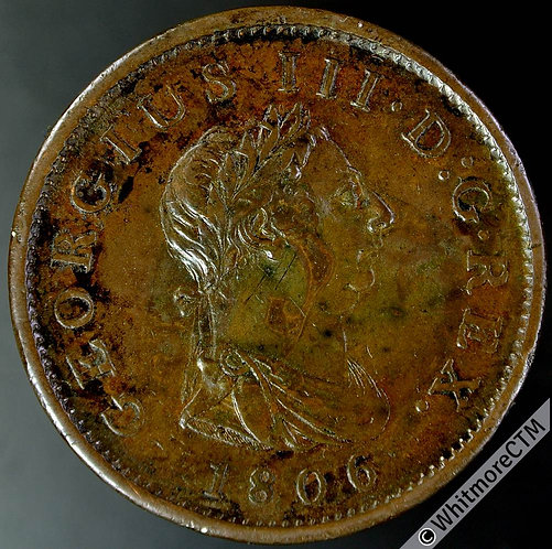 1806 George III Copper Penny - No hair curl