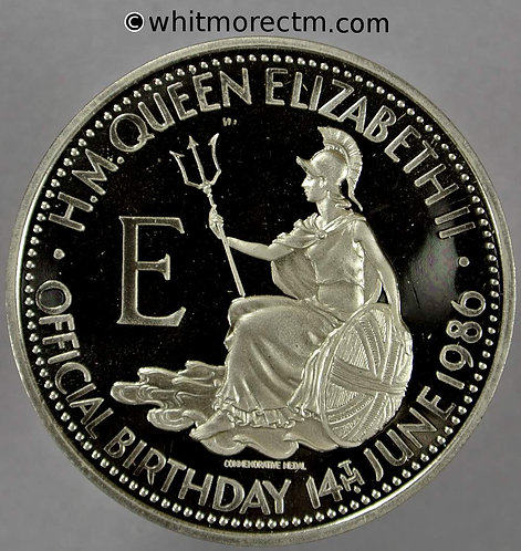 1986 Queen Elizabeth II 60th birthday Medal 39mm Proof about FDC