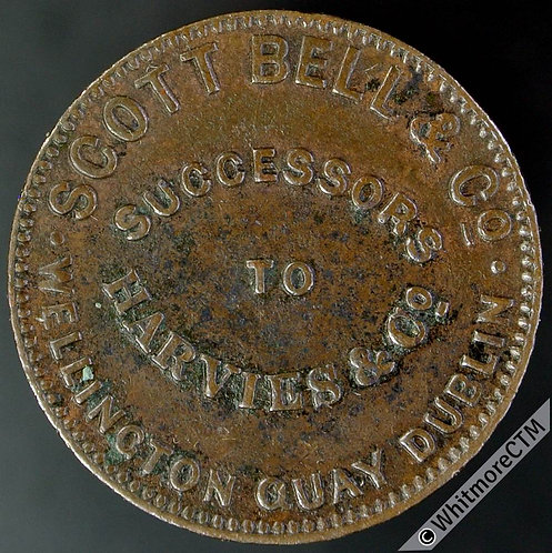 Unofficial Farthing Dublin 6220 Scott Bell & Co.Wellington Quay - Round o in Co