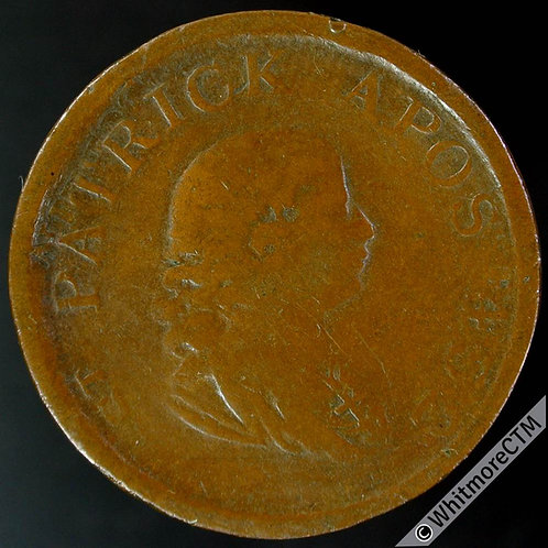 19th Century HalfPenny Ireland Non-local 2016 1806 St. Patrick Apos 432. Hillies