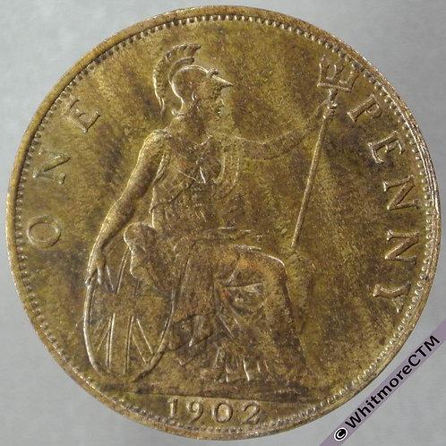 1902 British Bronze Penny Edward VII