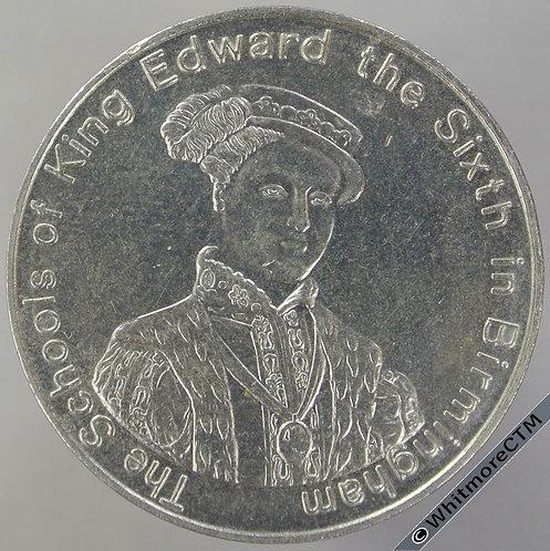 1983 Birmingham Centenary of King Edward's Girl & Grammar Schools Medal 30mm C-N