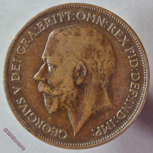 1916 British Bronze Penny George V