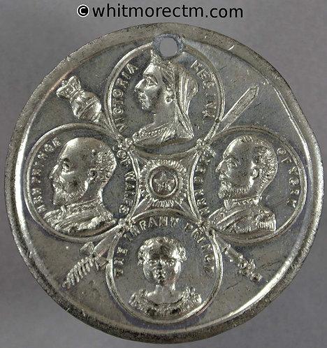 1897 Diamond Jubilee Medal 39mm Royal generations infant prince Edward VIII
