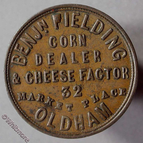 Unofficial Farthing Oldham 4220 Bejn.Fielding - Corn dealer - Pielding flaw