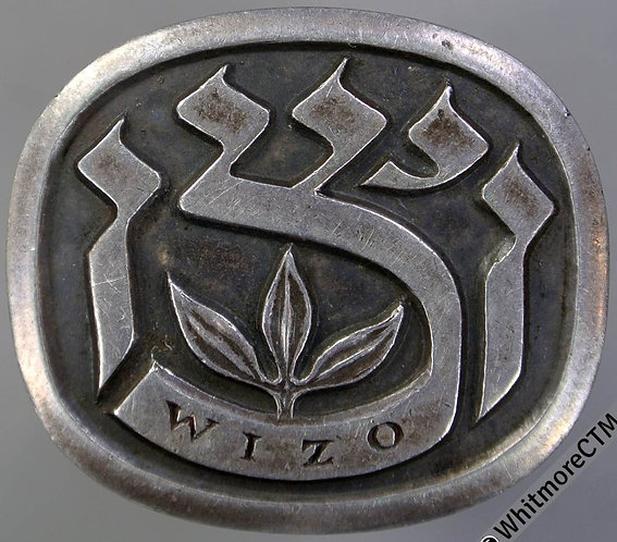 Palestine Womens International Zionist Organisation Badge 30x26mm Uniface silver