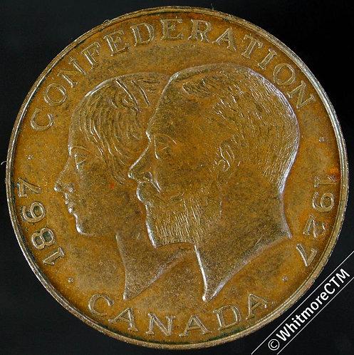 Canada 1927 Jubilee of Confederation Medal 25mm Medal Victoria & George V