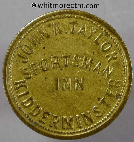 Kidderminster Inn / Pub Token W2700 Sportsman Inn 2½ D By Vaughton (VAU3-5)