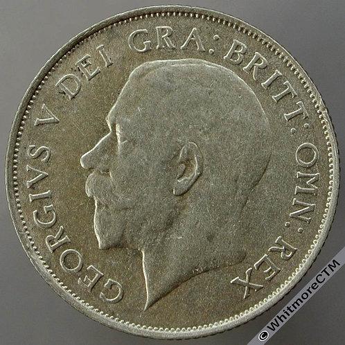 1921 British Shilling George V - Nose to S