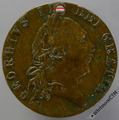 Imitation Half Guinea Birmingham N6230 1791 TB ET Ta etc. Pierced