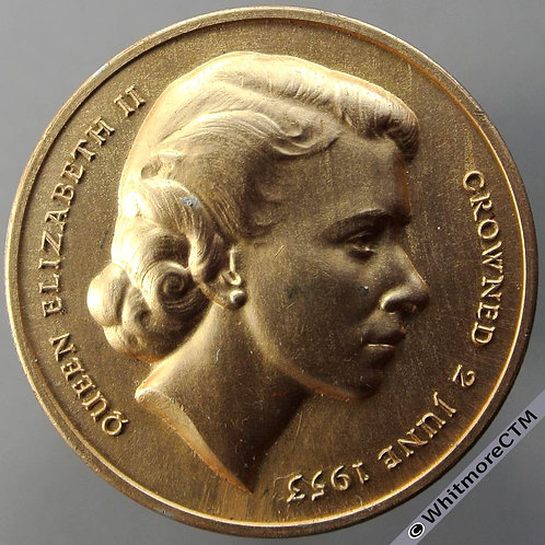 Barnet 1953 Coronation Medal 35mm WE8056A Gold coloured aluminium