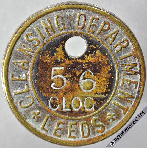 Tool / Pay check token obv Leeds 33mm Cleansing department Uniface brass