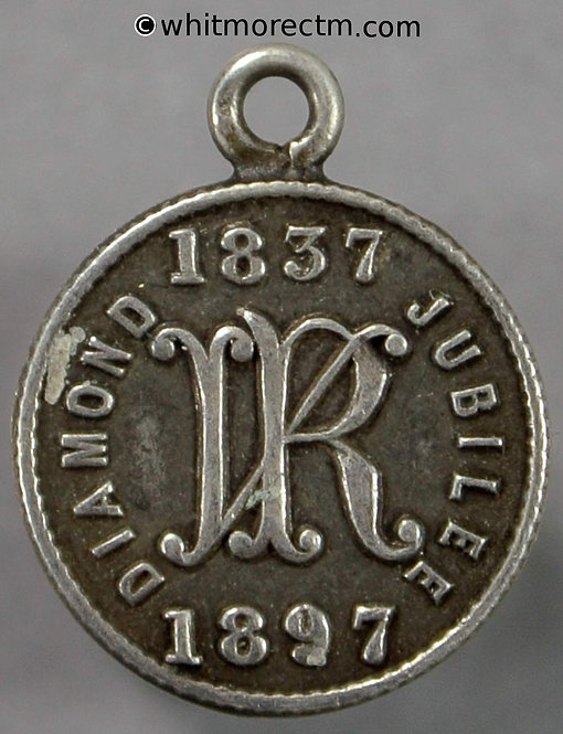 1897 Jubilee Medal Victoria 13mm WE3430A2 Inventions VR monogram- Silver
