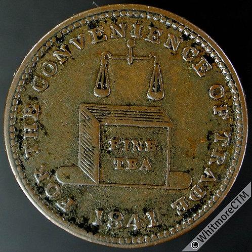 Unofficial Farthing Birmingham 770 1841 E M Martin Tea Dealer - Tea Chest etc.