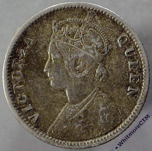 1862C India Quarter Rupee obv S&W 4.130