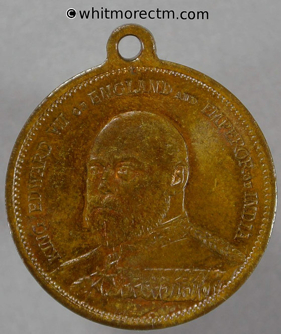 1901 Accession of Edward VII Medal 24mm WE4013A 20% Luster
