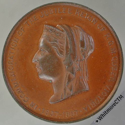 1887 Queen Victoria Golden Jubilee Medal 33mm B3262 By J.Moore. Bronze