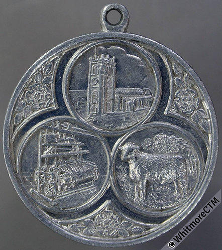 Bradford 1931 Historical Pageant Medal 32mm by M.Rhodes Church Cotton Sheep Alum