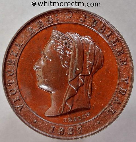 1887 Golden Jubilee Queen Victoria Medallion 32mm B3248