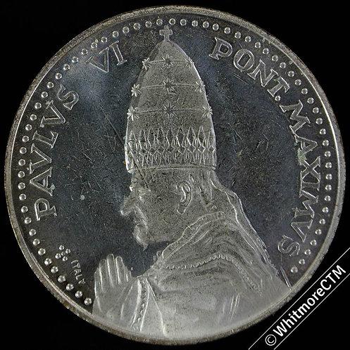 1975 Papal Holy Year Paul VI Medal 35mm Peter & Paul by door.  Silvered Bronze