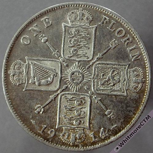 1914 British Florin D1735 2+C