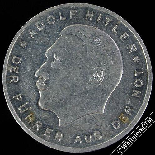 Germany Adolf Hitler propaganda Medal 30mm Wahlt Nationalsozialisten Aluminium