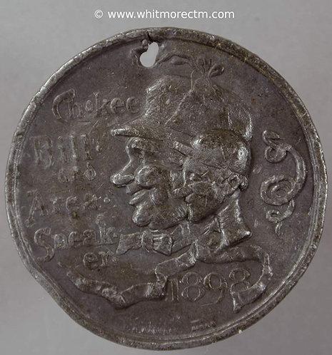 1898 King Comic Cuts longest reign - Chokee Bill & Area Sneaker medal 39mm W.M