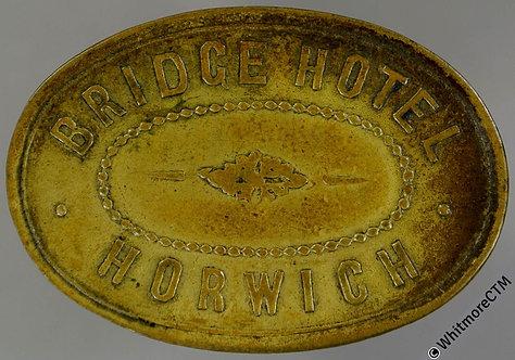Horwich (Lancs) Pub Token 32x22mm Bridge Hotel / 2D - Oval