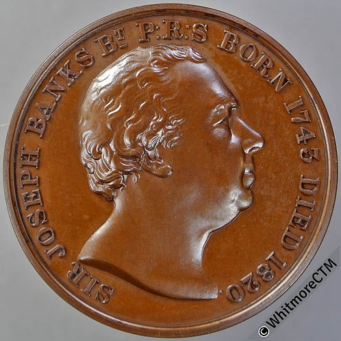Kew 1946 RHS Sir Joseph Banks Medal 38mm B1041 Engraved details
